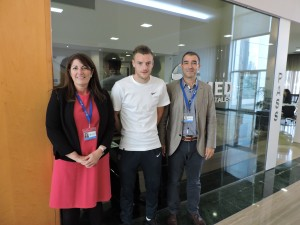 Jamie Vardy visita IMED