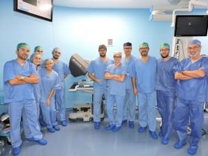 Grupo de alumnos en el Taller de Simulación de Cirugía Robótica